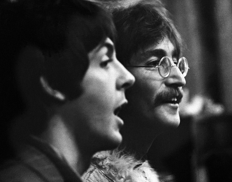 Paul McCartney and John Lennon promoting Sgt. Pepper, May 19th, 1967.