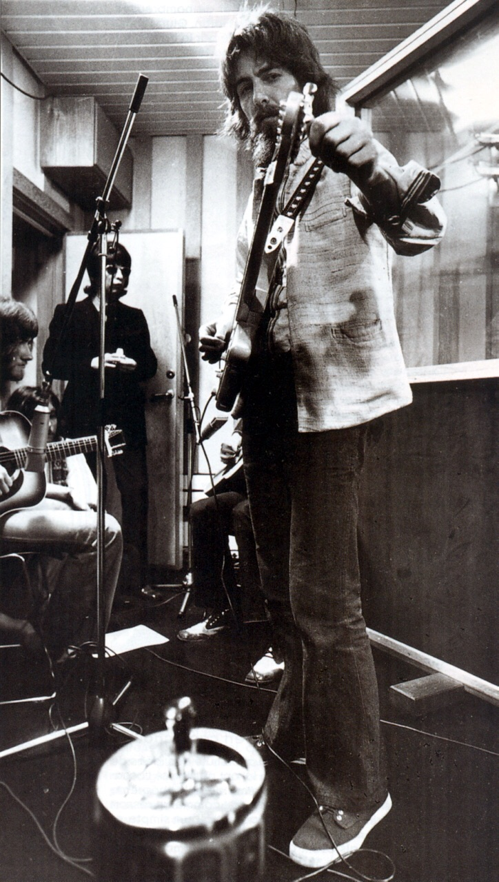 George Harrison recording Imagine, 1971.
