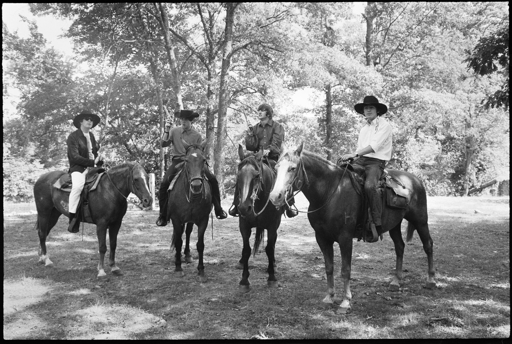 The Beatles on a ranch in Missouri, 1964.