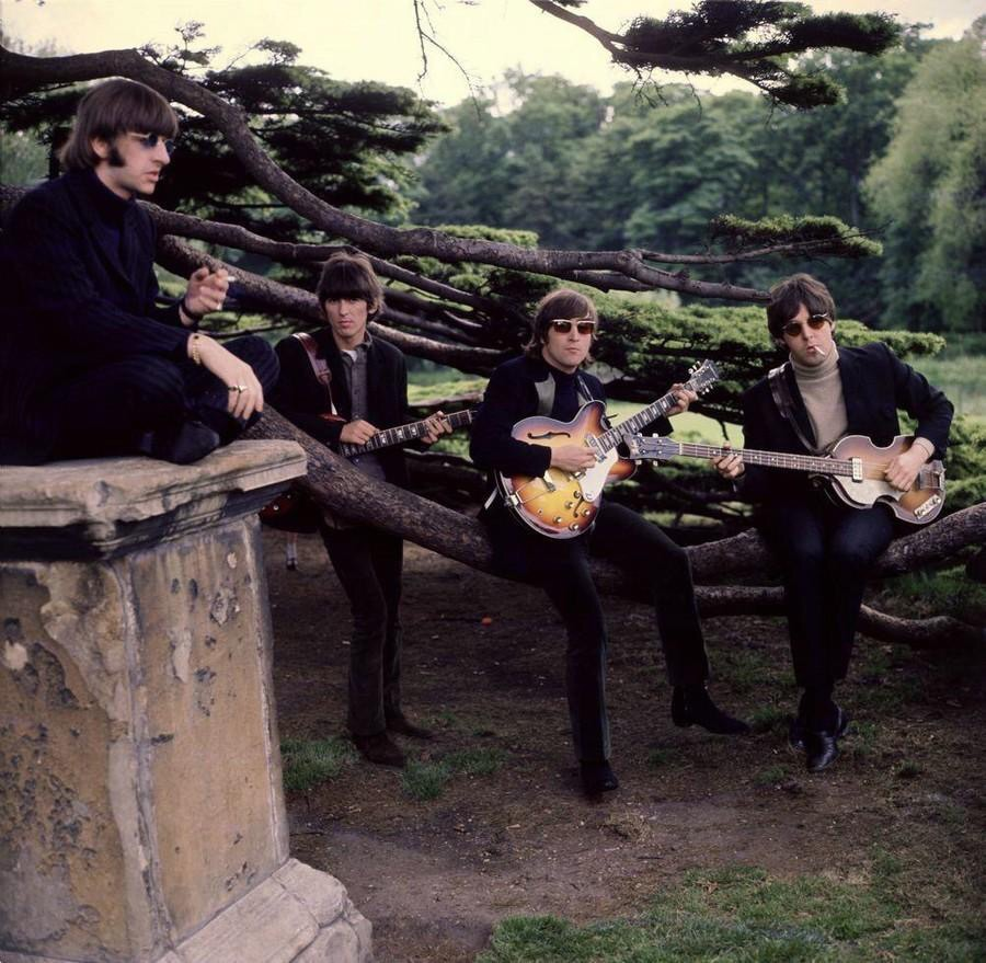 The Beatles at Chiswick House, May 20th 1966.