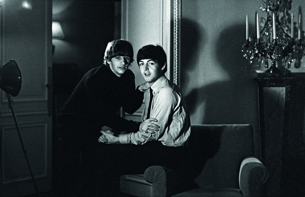 Paul McCartney and Ringo Starr in America, 1964.