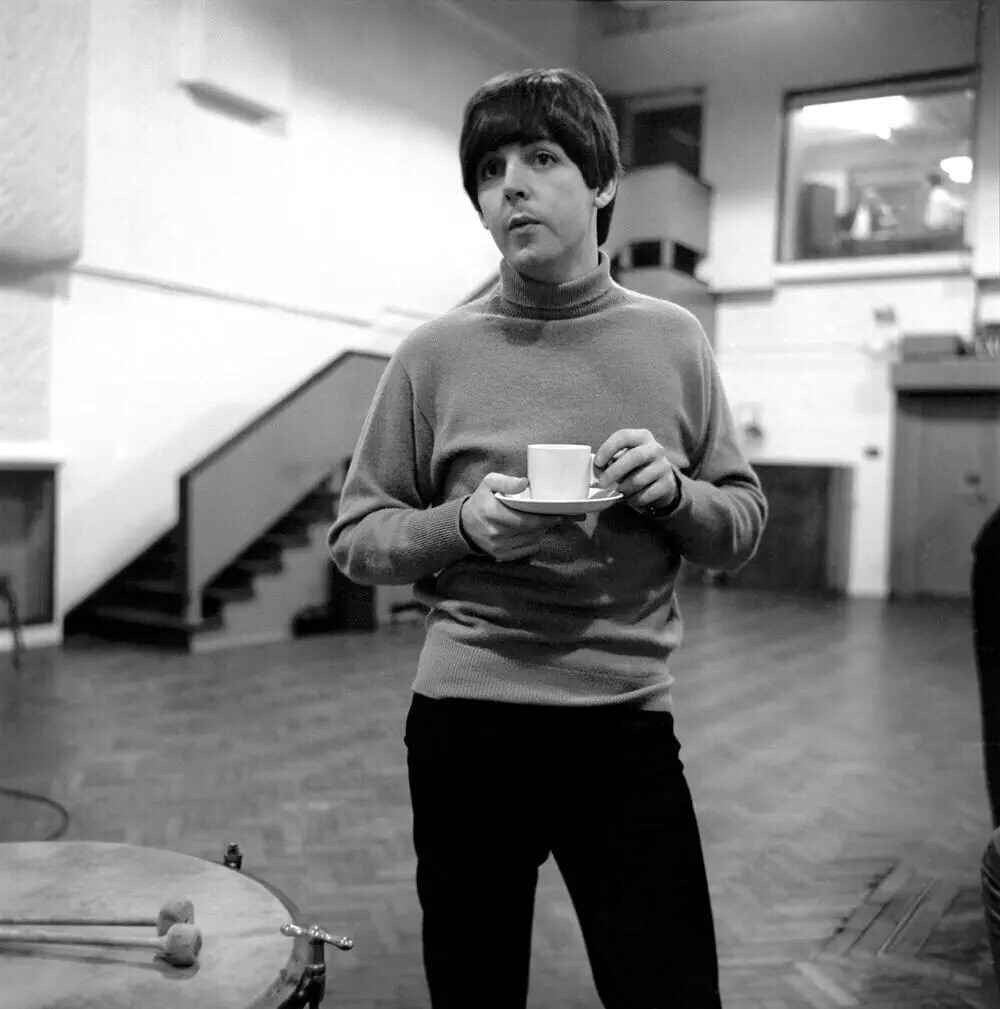 Paul McCartney at Abbey Road, 1964.