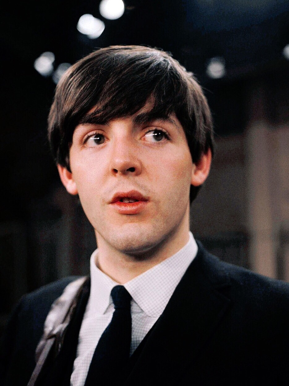 Paul McCartney on the Ed Sullivan Show, 1964.