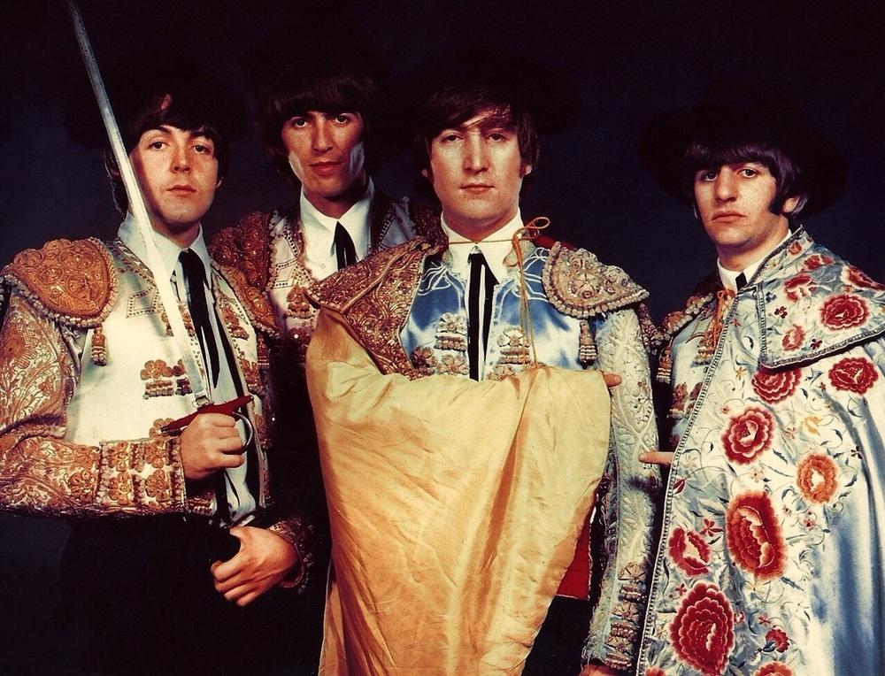The Beatles dressed as matadors, 1964.