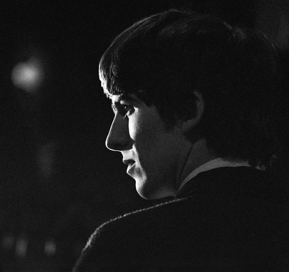 George Harrison at the Washington Coliseum, February 11th 1964.
