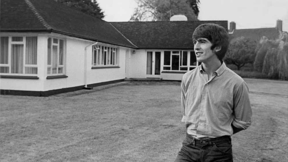 George Harrison at his bungalow in Surrey, 1965.