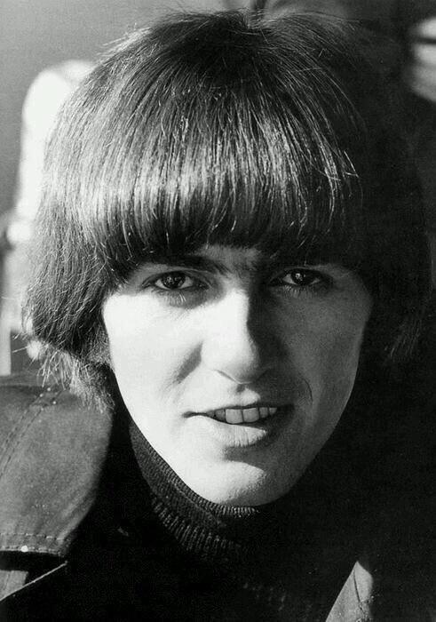 George Harrison on th set of Help! 1965.