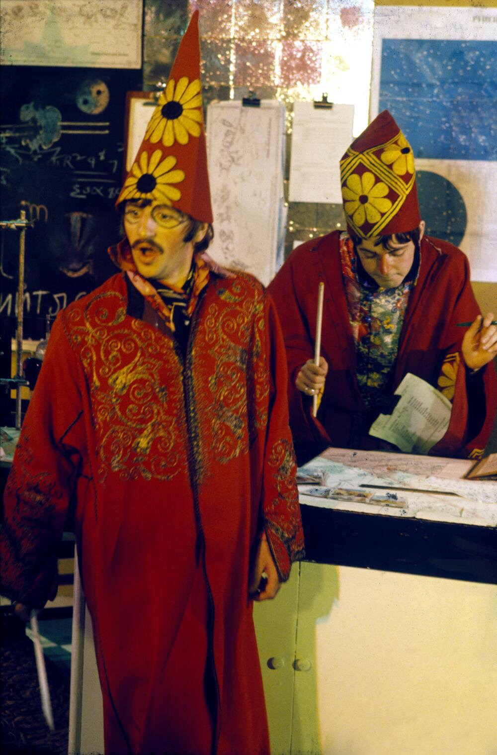Paul and Ringo as wizards in Magical Mystery Tour, 1967.