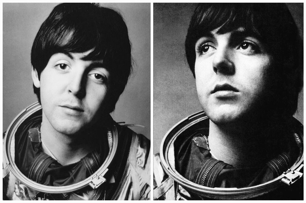 Paul McCartney dressed as an astronaut, 1965.