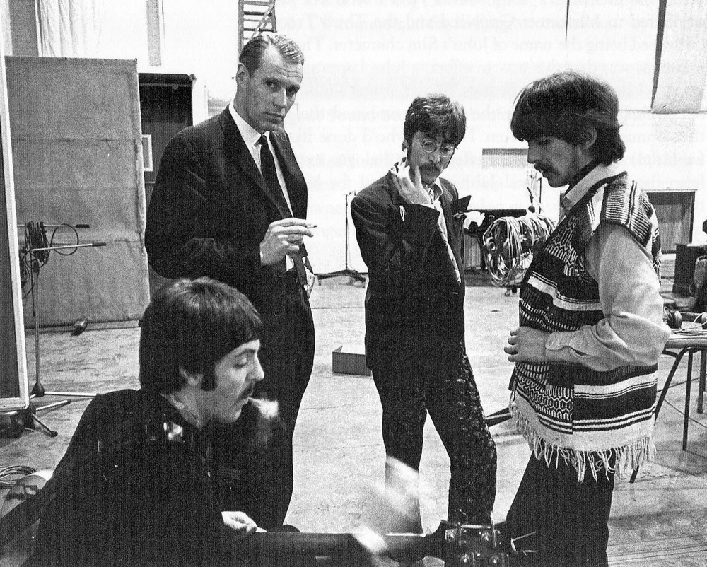 The Beatles with George Martin, 1967.