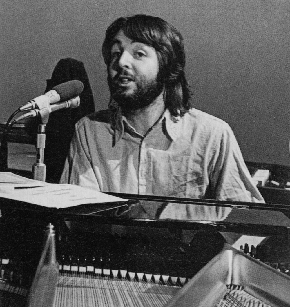 Paul McCartney recording Let It Be, 1969.