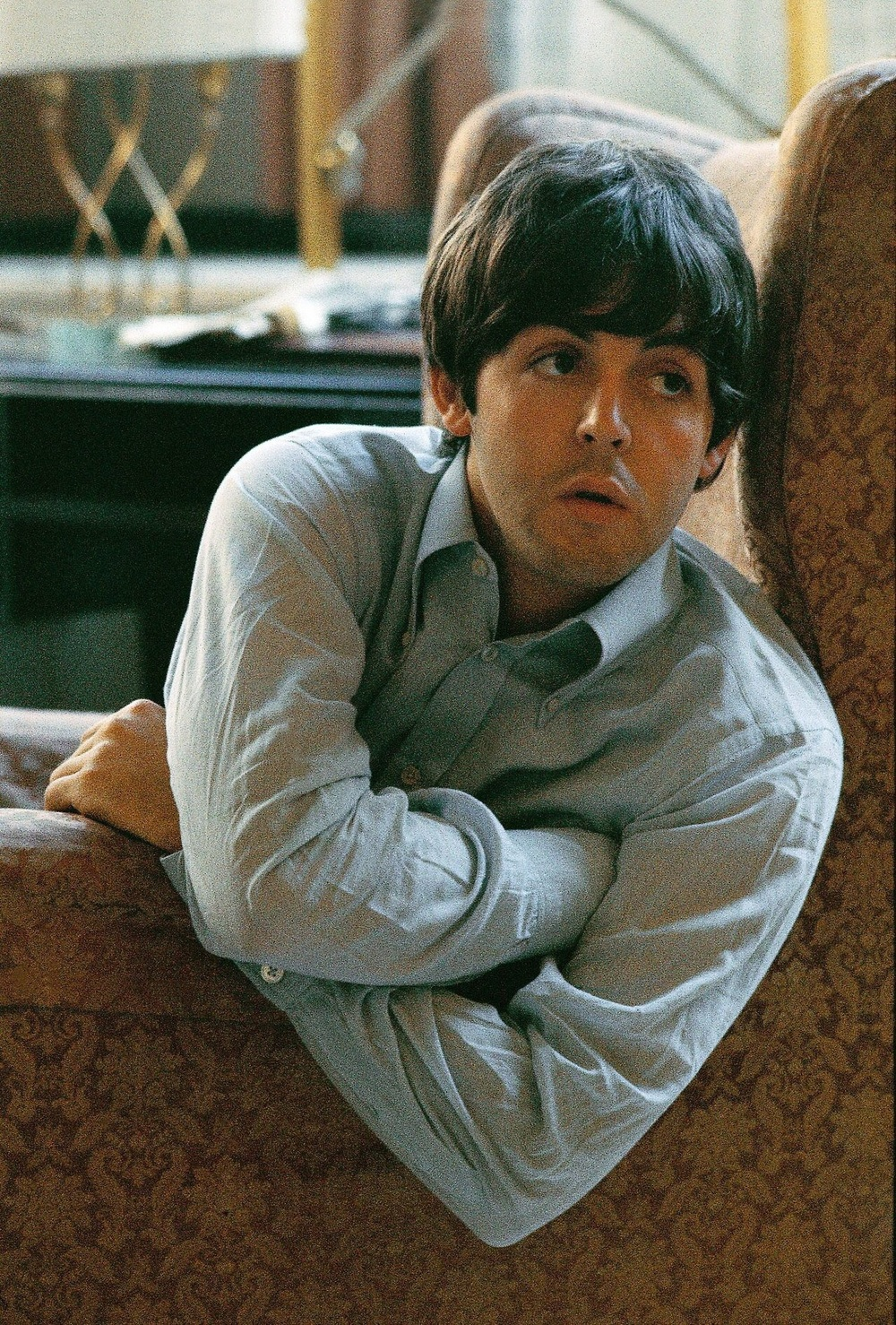 Paul McCartney at the George V hotel in Paris, June 20th 1965.