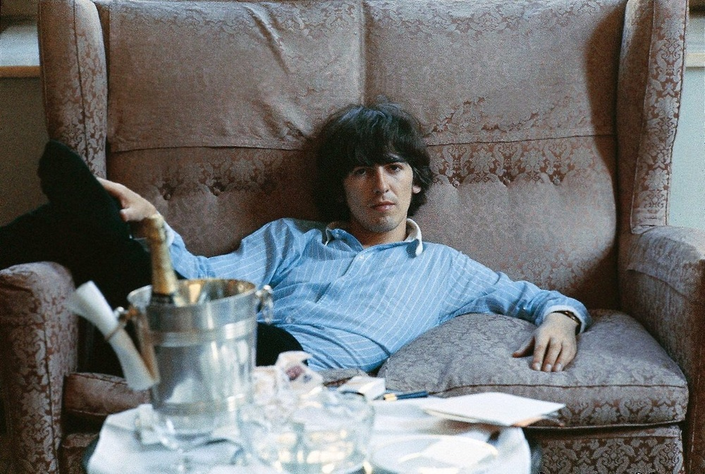 George Harrison at the George V hotel in Paris, June 20th 1965.