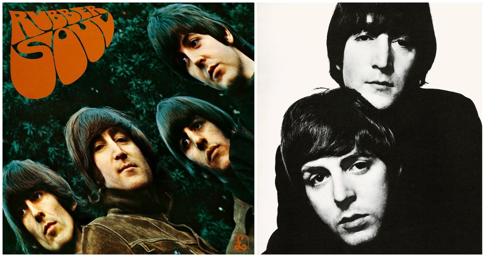 Rubber Album cover and Lennon/McCartney 1965.