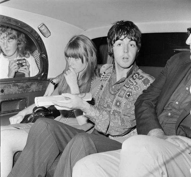 Paul McCartney with Jane Asher, 1967.