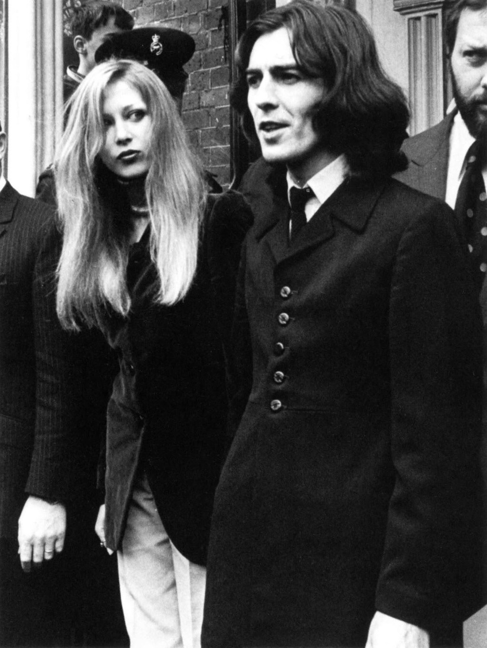 George Harrison and Pattie Boyd, 1969.