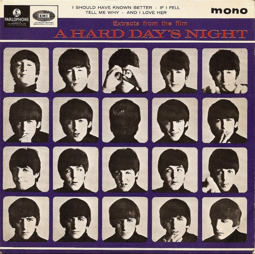Extracts from the Film A Hard Day's Night, E.P. cover 1964.