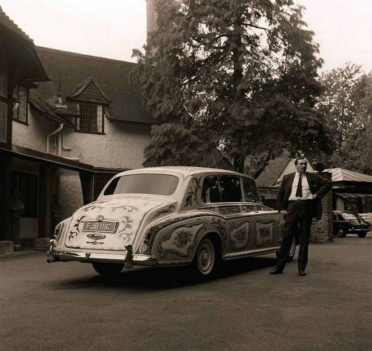 John Lennon's Rolls Royce and chauffeur, 1967.