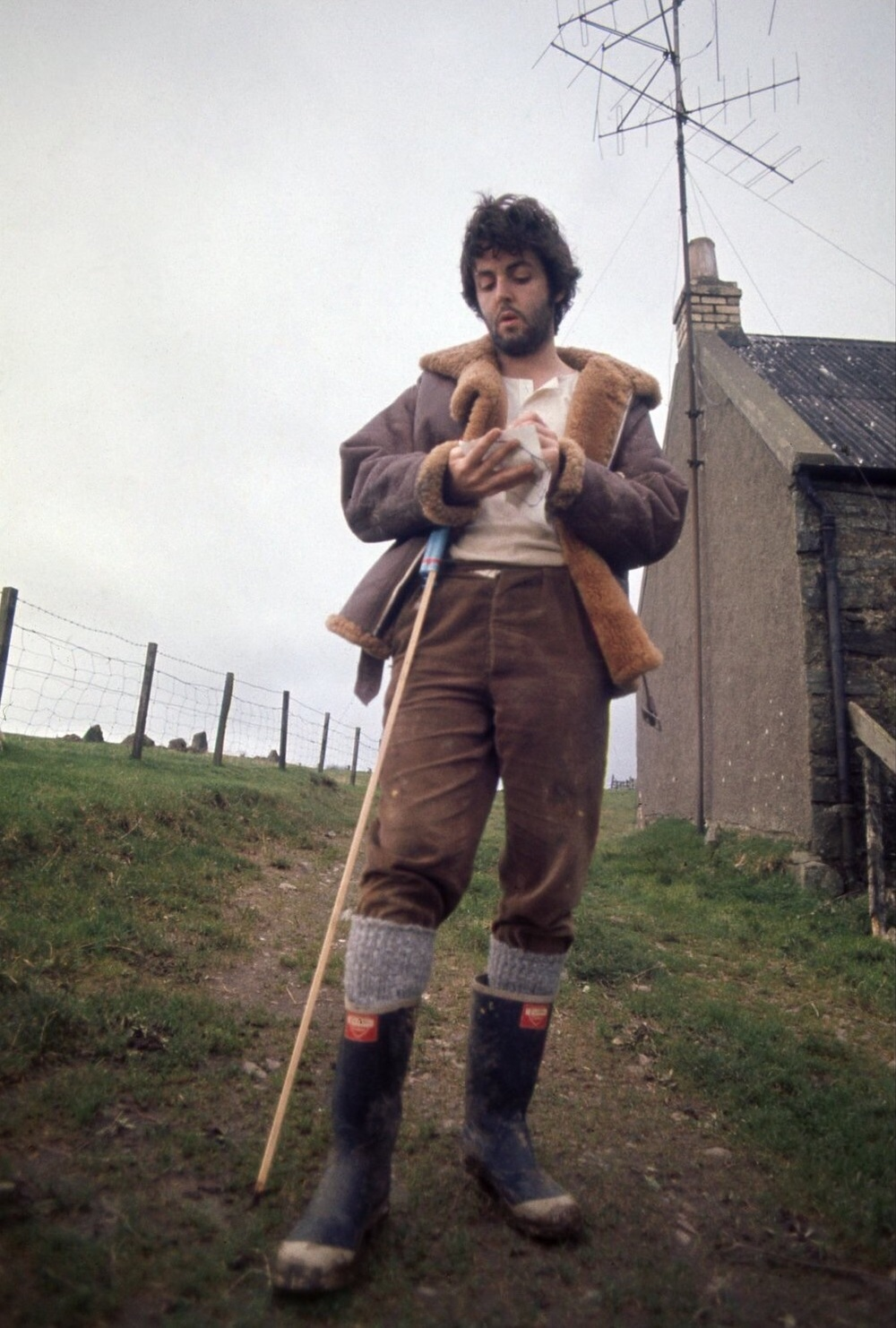 Paul McCartney on his Scottish farm, 1969.