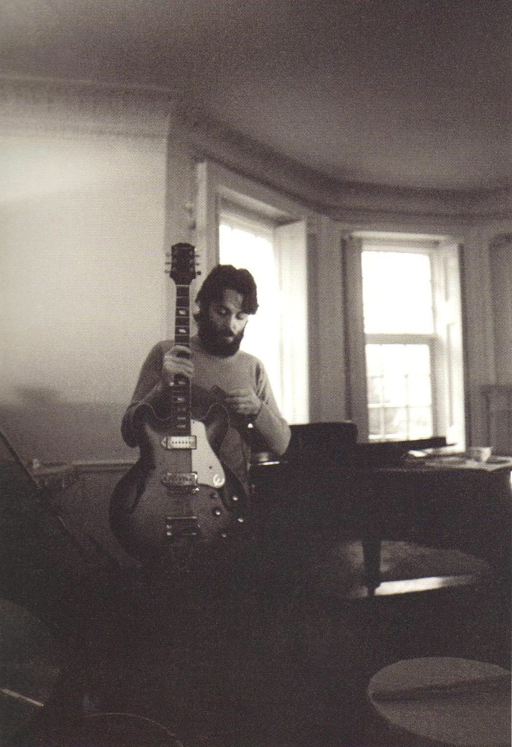 Paul McCartney recording his first solo album, 1969.