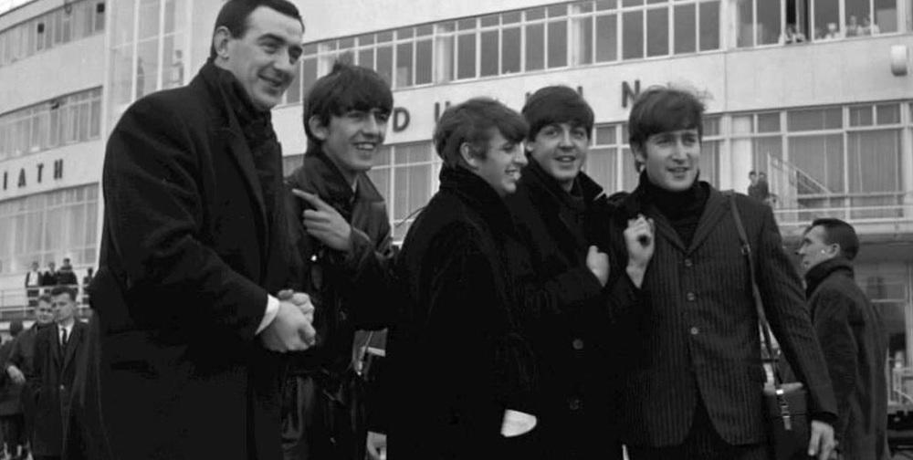 The Beatles at Dublin Airport, November 7th, 1963.