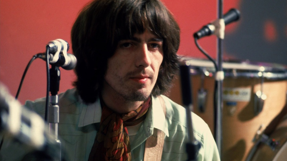 George Harrison recording Let It Be, 1969.