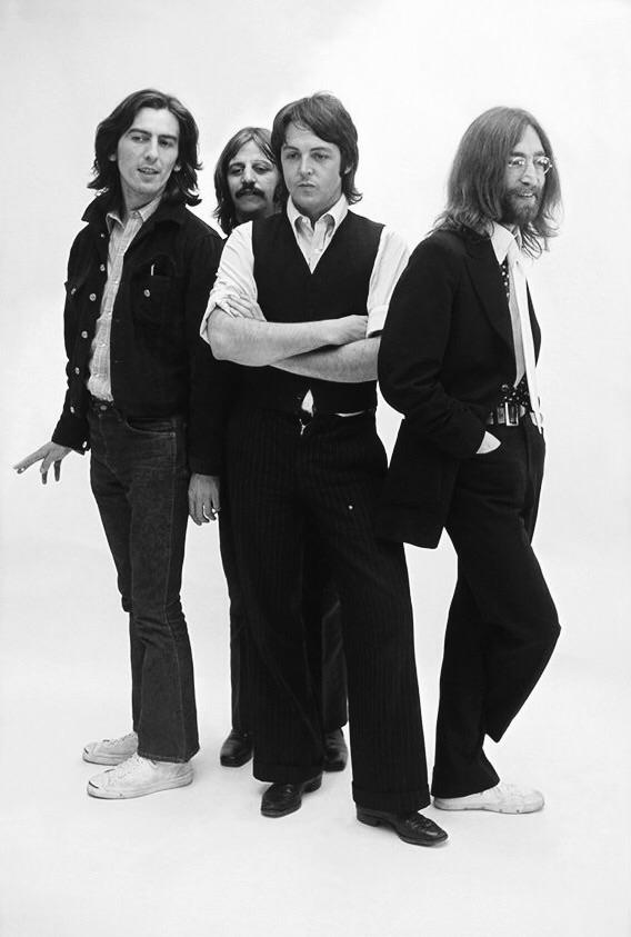 The Beatles photo shoot, 1969.