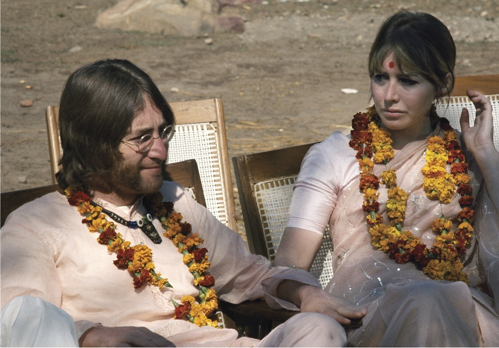 Josh and Cynthia Lennon in India, 1968.