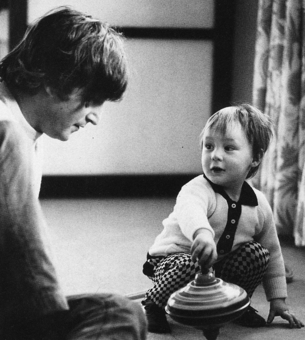 John and Julian Lennon at their home in Weybridge, 1965