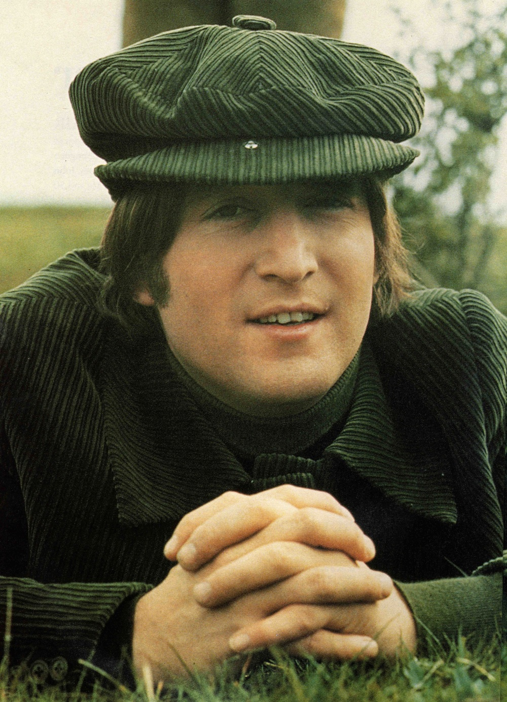 John Lennon filming Help! on the Salisbury Plain, 1965.