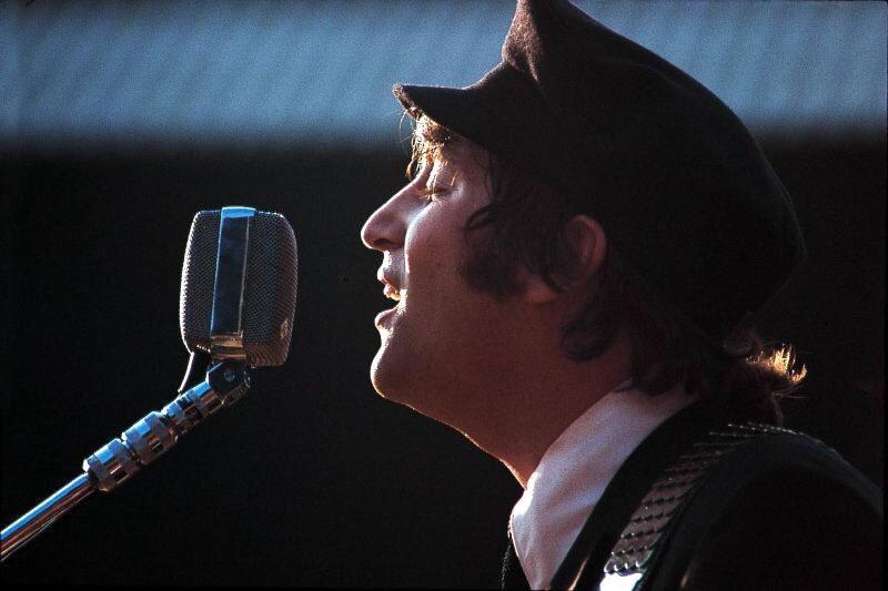 John Lennon in Italy, 1965.