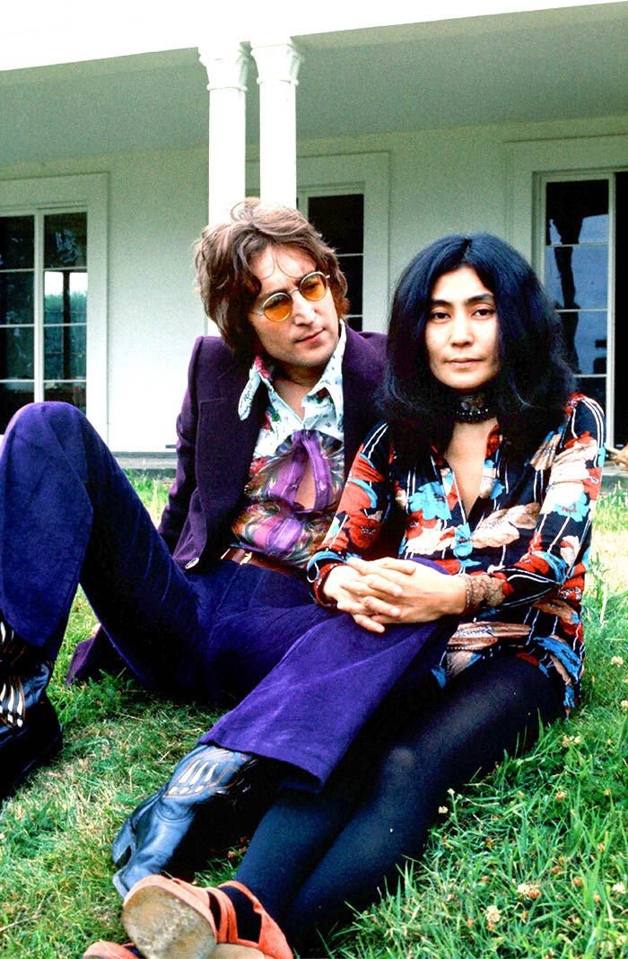 John Lennon and Yoko Ono at Tittenhurst Park, 1971.