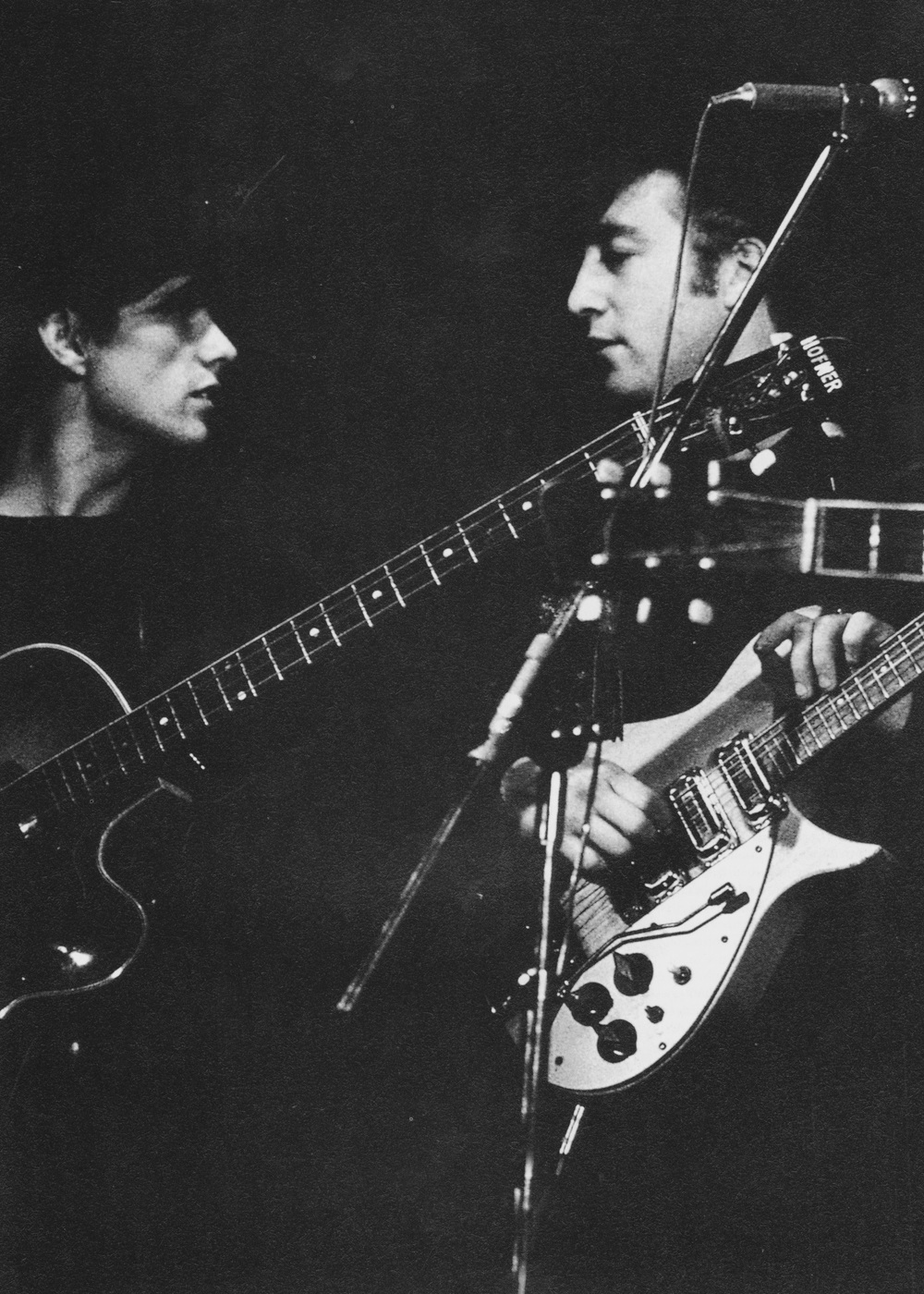 John Lennon and Stuart Sutcliffe in Hamburg, 1960.