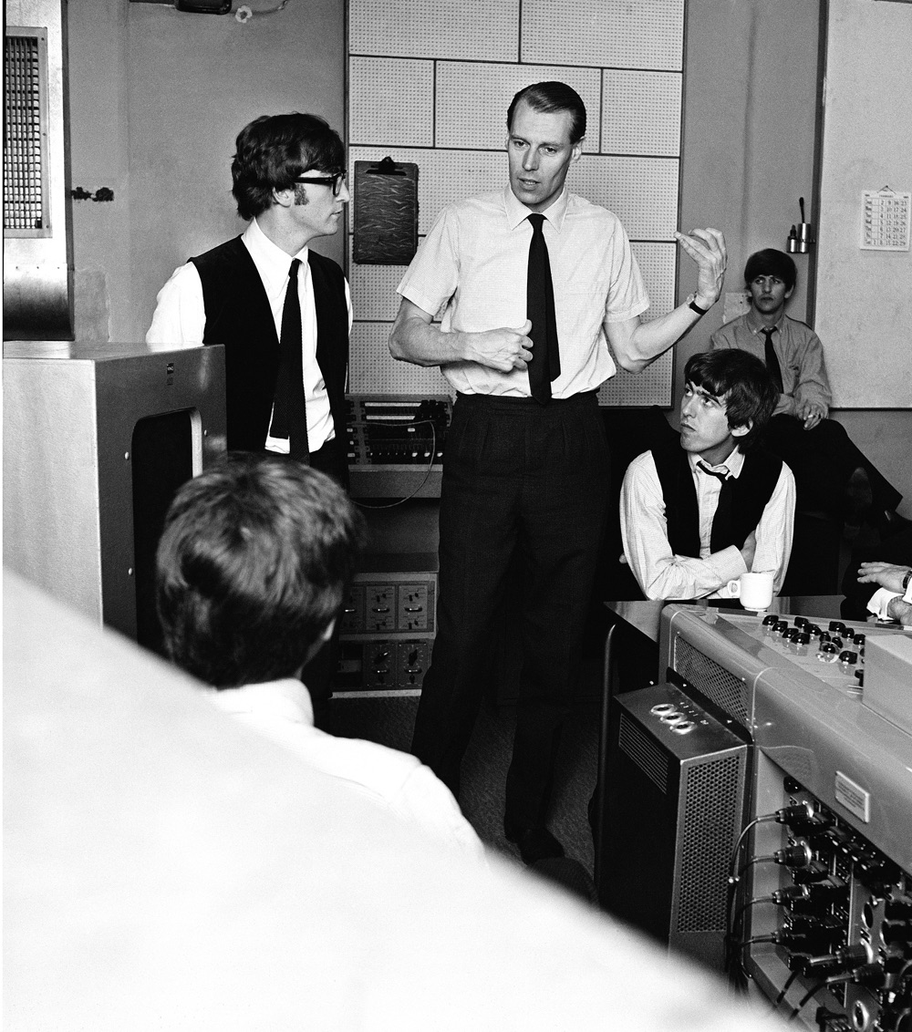 The Beatles with George Martin, 1963.