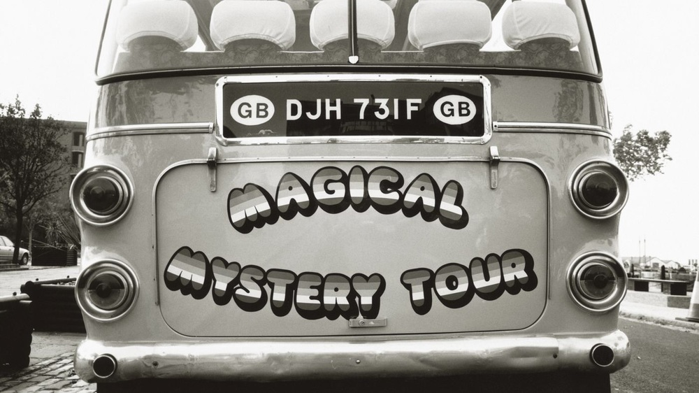 The Magical Mystery Tour bus, 1967.