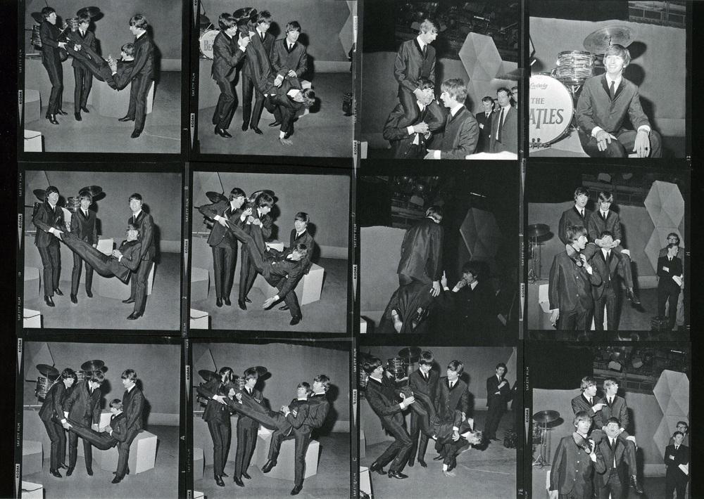The Beatles celebrating Ringo's 24th birthday.