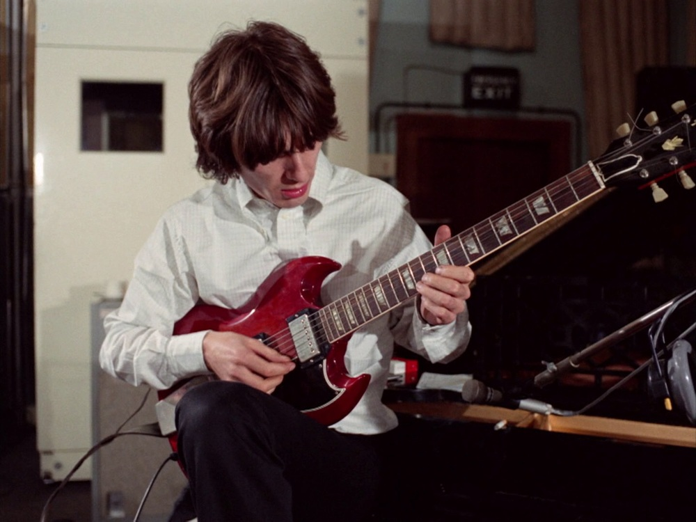 George Harrison recording Hey Bulldog, February 11th 1968.
