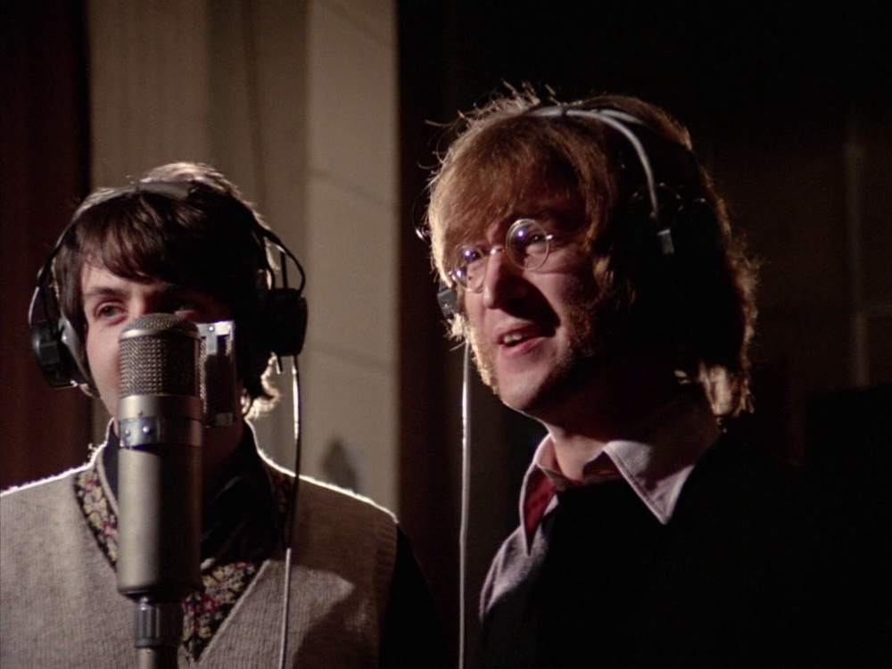 John Lennon and Paul McCartney recording Hey Bulldog, February 11th 1968.