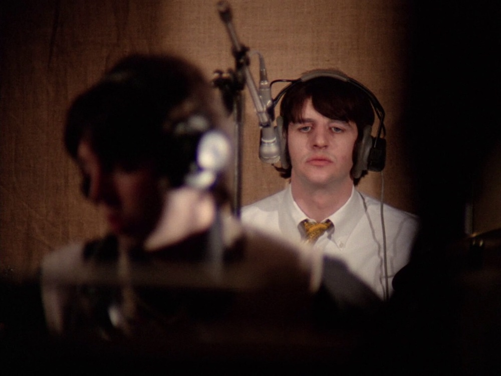 Ringo Starr and Paul McCartney recording Hey Bulldog, February 11th 1968.