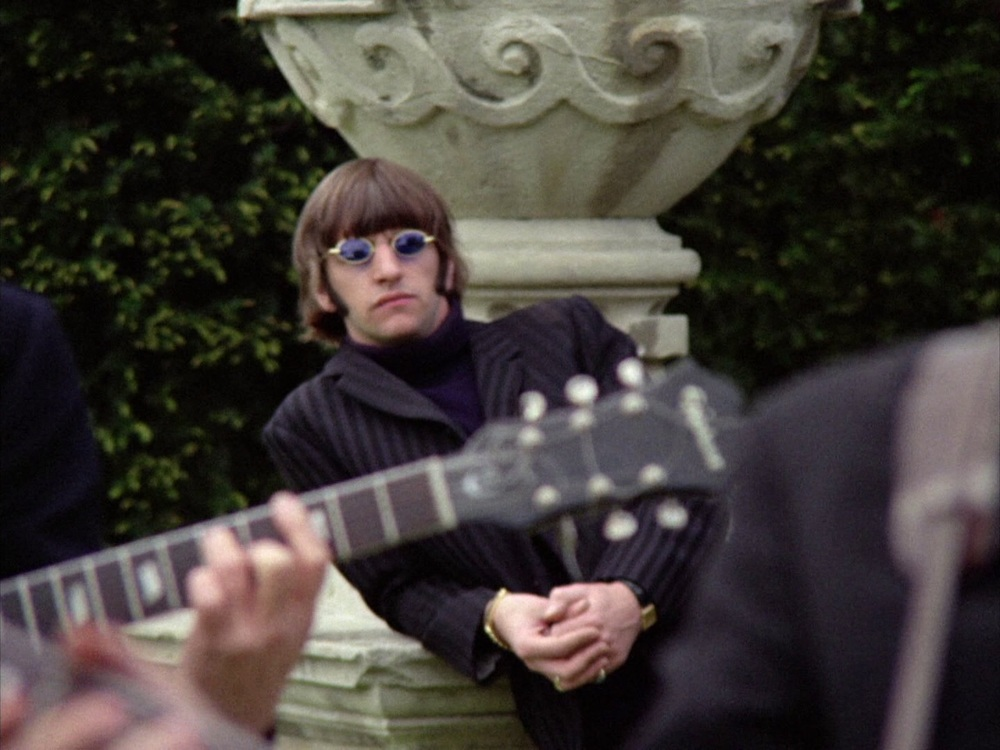 The Beatles filming the Paperback Writer promo at Chiswick House, May 20th 1966.