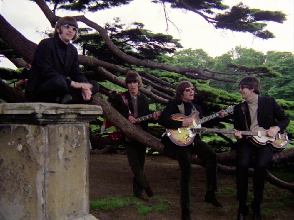 The Beatles filming the Rain promo at Chiswick House, May 20th 1966.