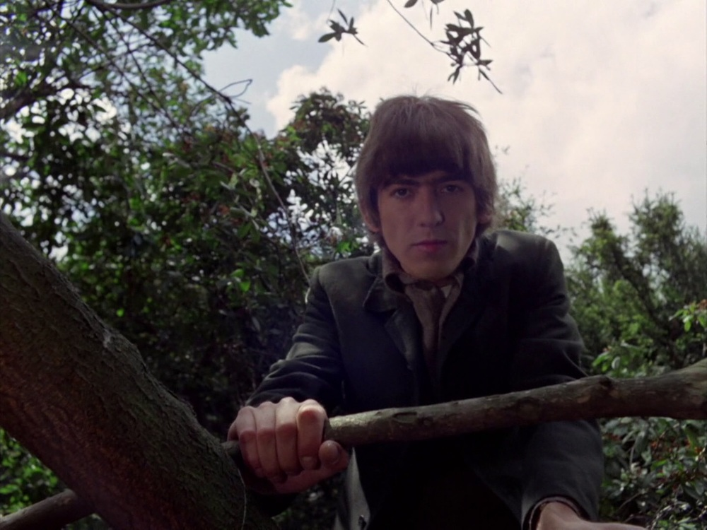 George Harrison filming the Rain promo at Chiswick House, May 20th 1966.