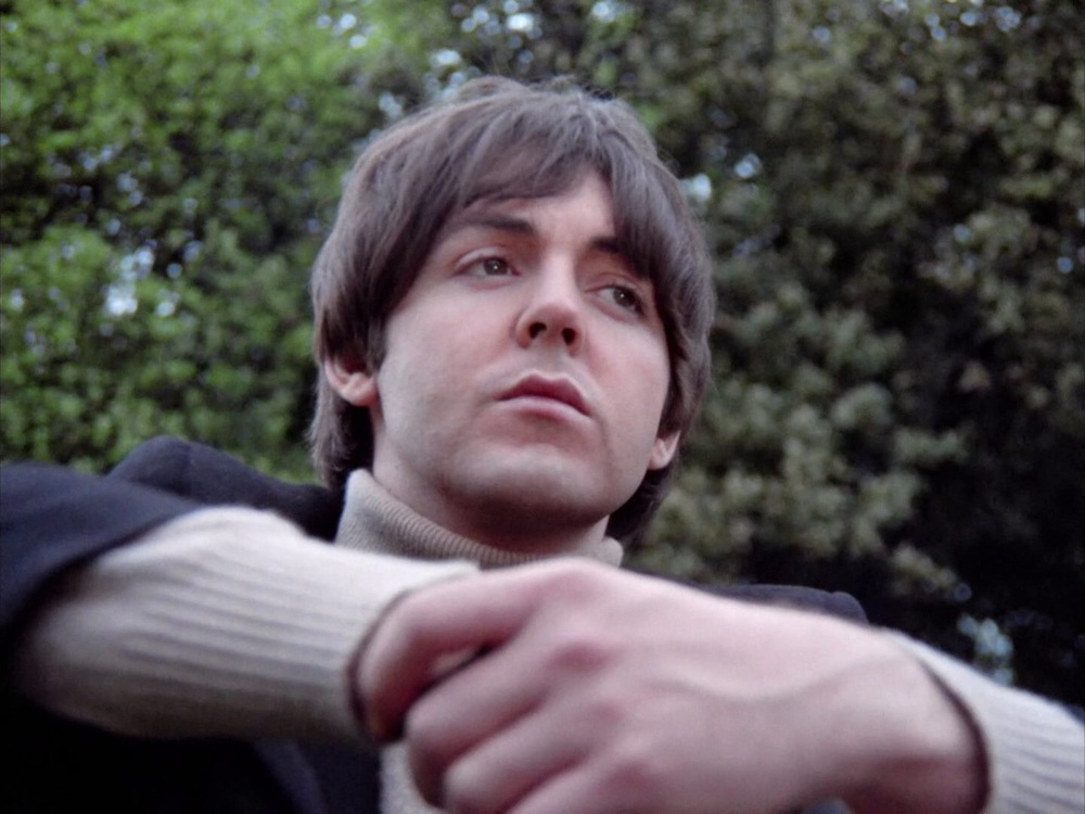 Paul McCartney filming the Rain promo at Chiswick House, May 20th 1966.