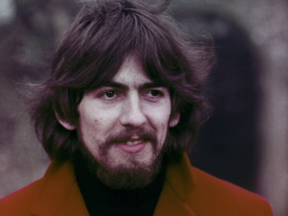 George Harrison filming the Penny Lane promo, February 5th 1967.