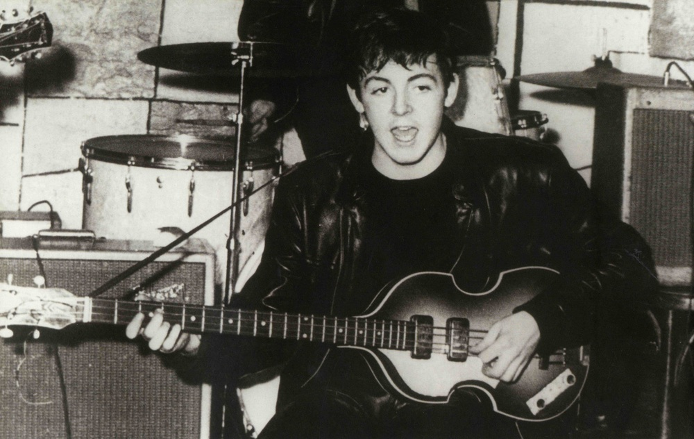 Paul McCartney at the Cavern club, 1962.