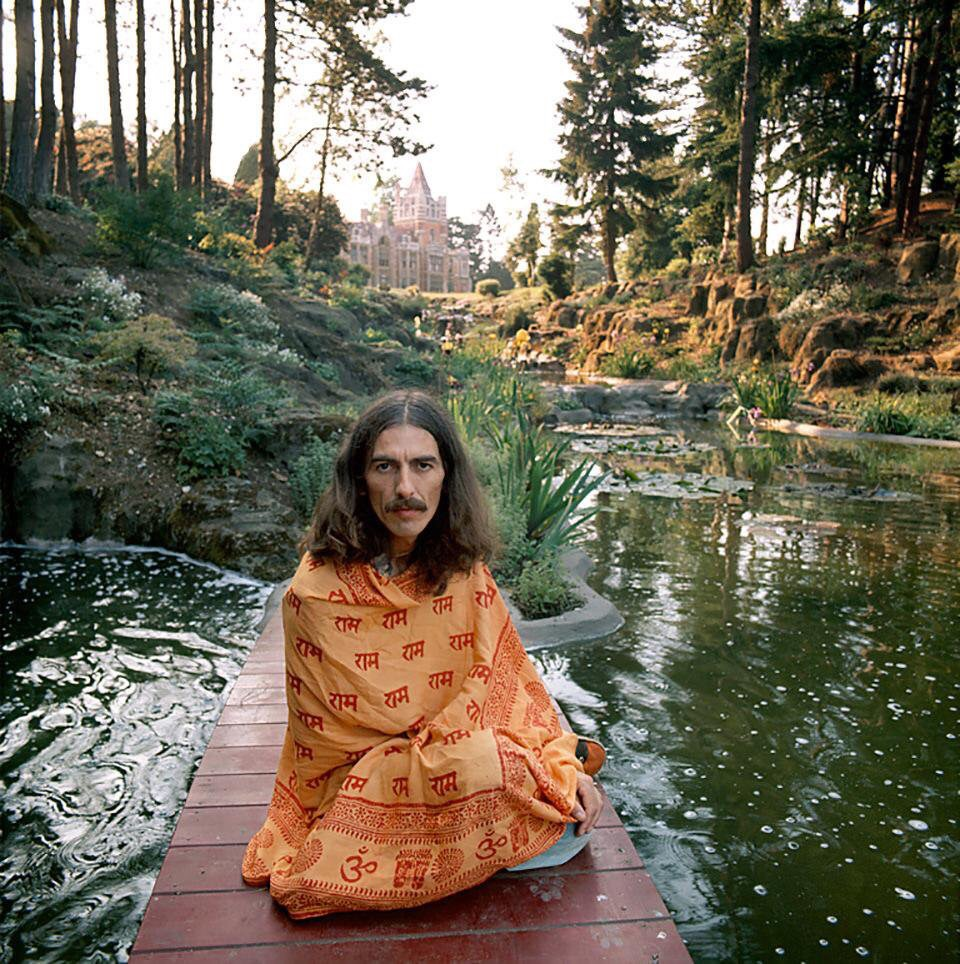 George Harrison at his friar Park home, circa 1976.