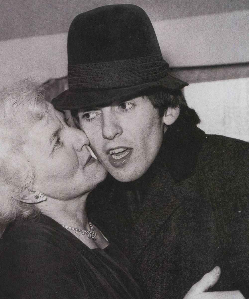 George Harrison with his mother, 1966.