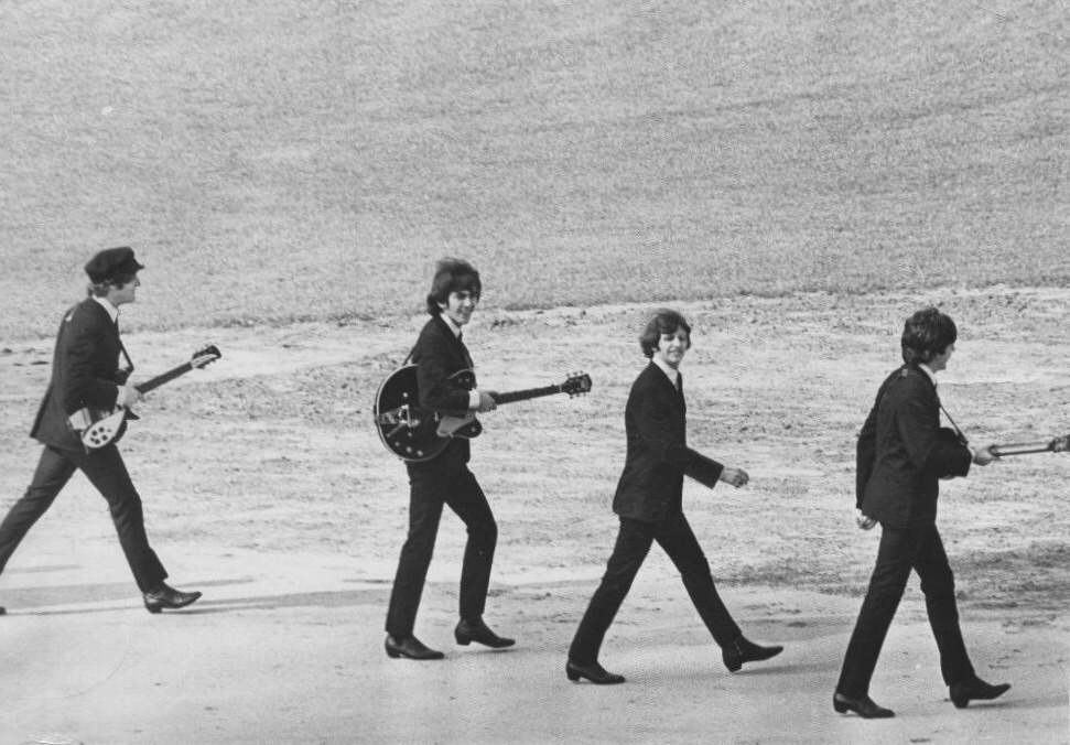 The Beatles arrive at White Sox Park, Chicago, August 20th 1965.