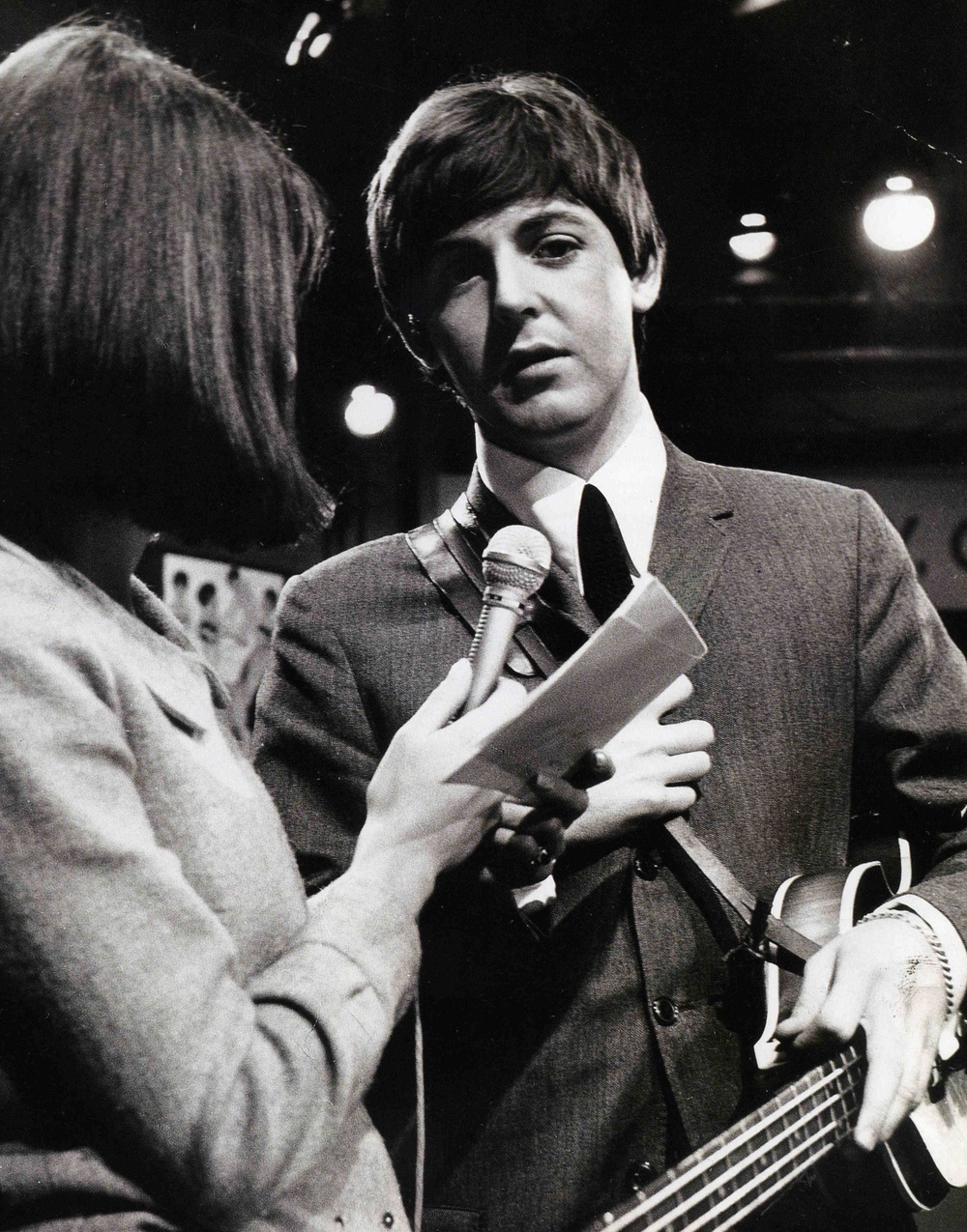 Paul McCartney being interviewed on Ready, Steady, Go! 1964.