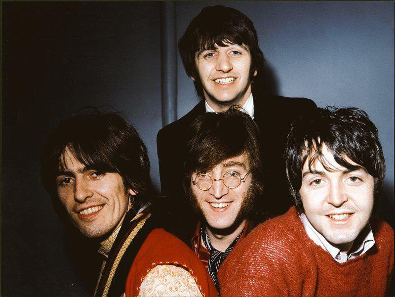 The Beatles photographed in February 1968.